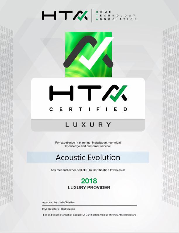 HTA Certified Company | Acoustic Evolution
